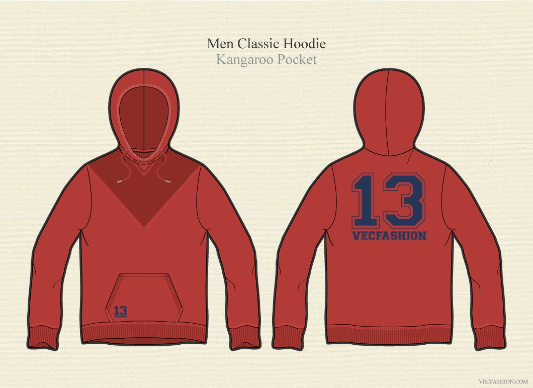 Men Classic Hoodie Pullover ~ Illustrations ~ Creative Market