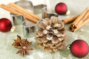 Christmas cone. Pine cone