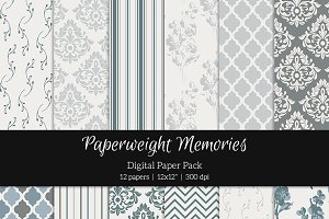 Patterned Paper - Vintage Blue