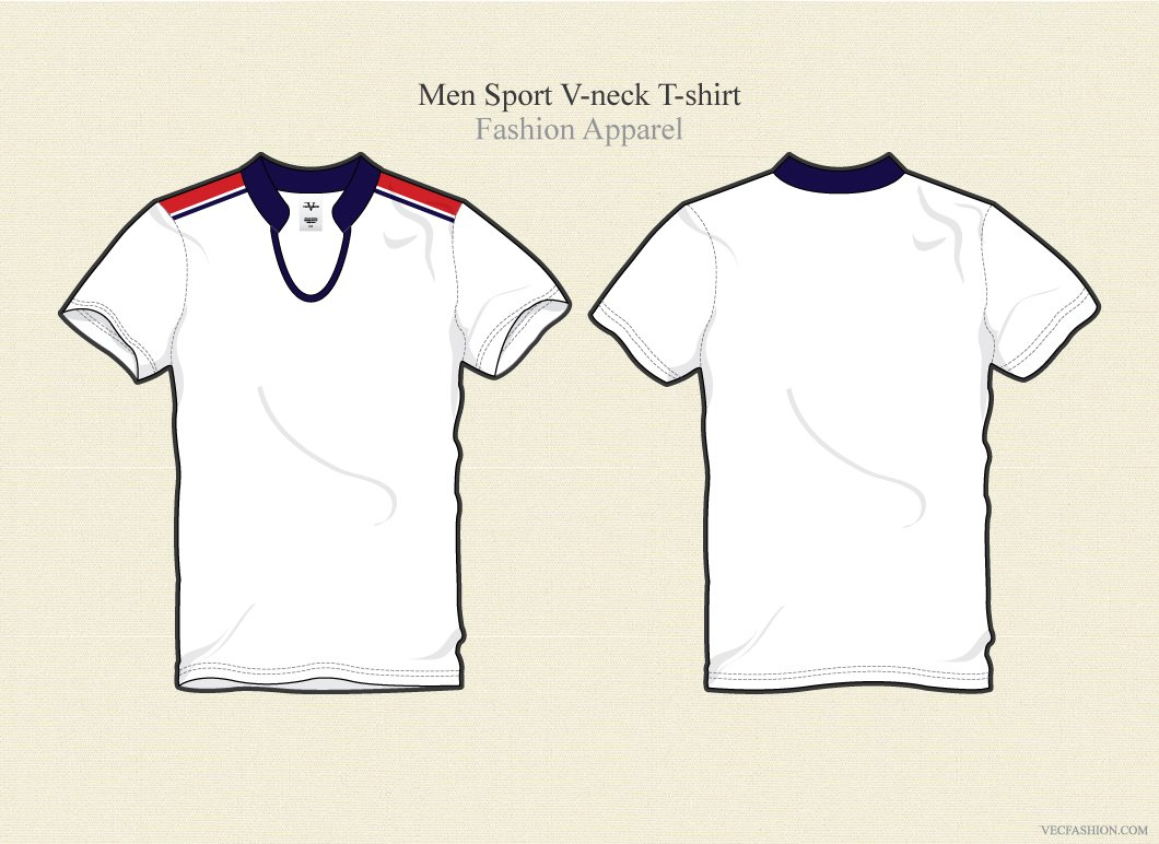 Template T Shirt Collar V Neck T Shirt Template