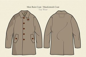 Men Rain Coat or Mackintosh Coat