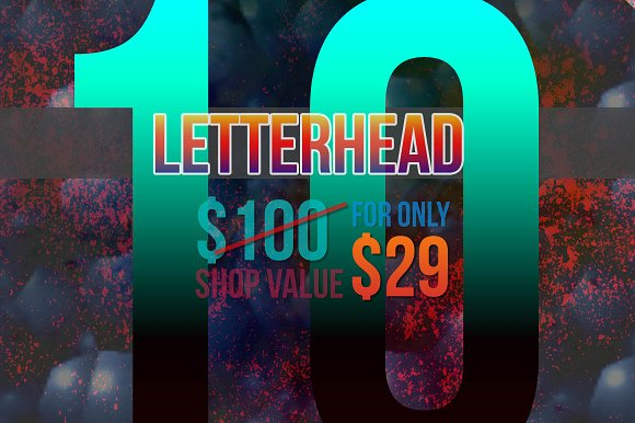 10 Letterheads Only $29