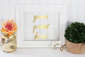 Styled Stock Photo - White Frame