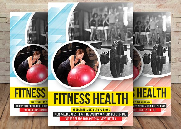 Health Fitness Gym Flyer Template