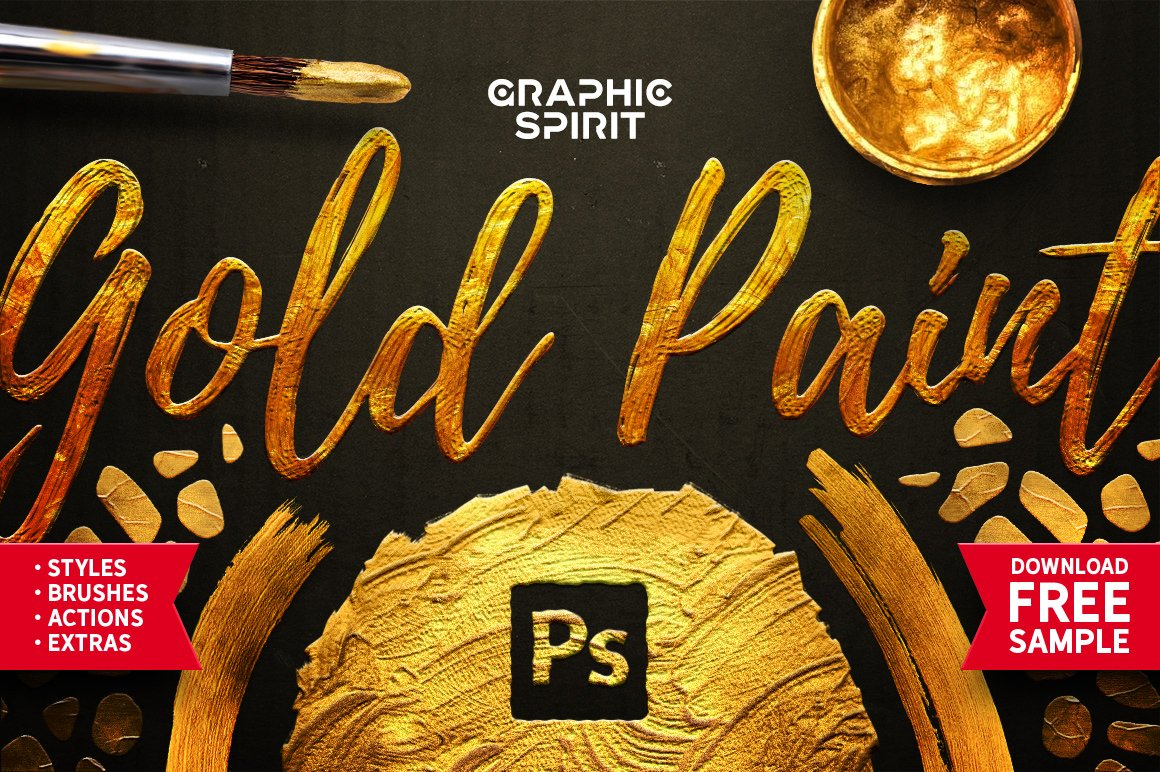 Toolkit Gold Paint Effect Photoshop Photoshop Add Ons