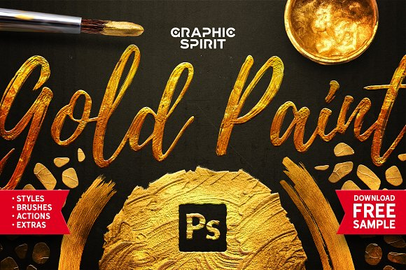 TOOLKIT Gold Paint Effect P-Graphicriver中文最全的素材分享平台