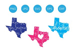 Texas SVG Cut File and Clipart