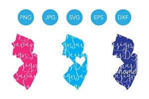 New Jersey SVG Cut File and Clipart