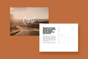 Go! Postcard Template