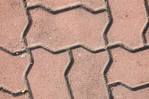 Paving stone footpath