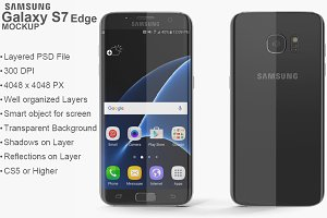Samsung Galaxy S7 Edge Black Mockup