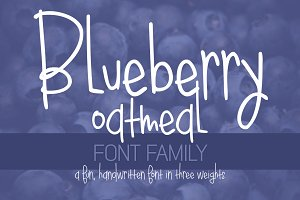Blueberry Oatmeal Font Family