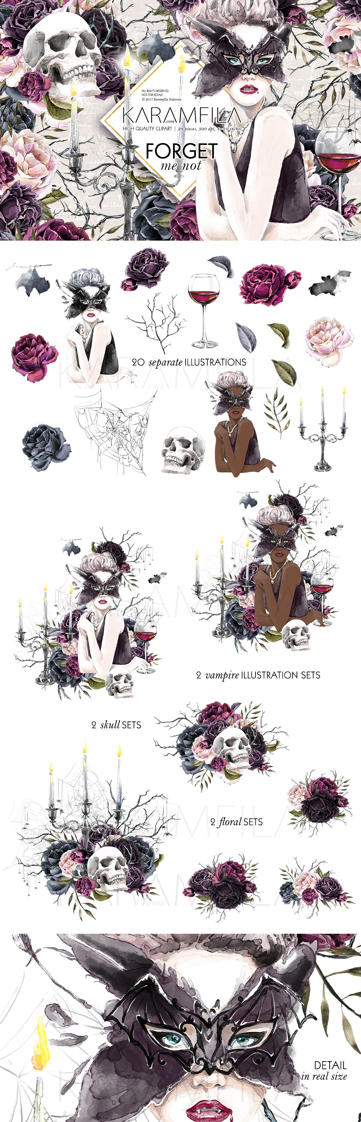 Halloween Vampire Clipart ~ Illustrations ~ Creative Market