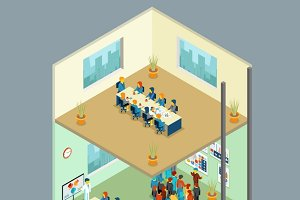 Isometric business center