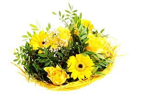 Beautiful bouquet of yellow flowers.