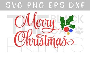 Merry Christmas SVG DXF EPS PNG