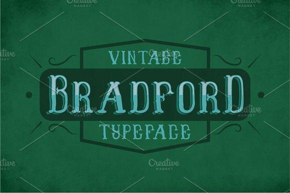 Bradford Vintage Label Typeface