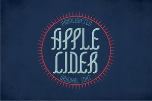 Applecider Vintage Label Typeface