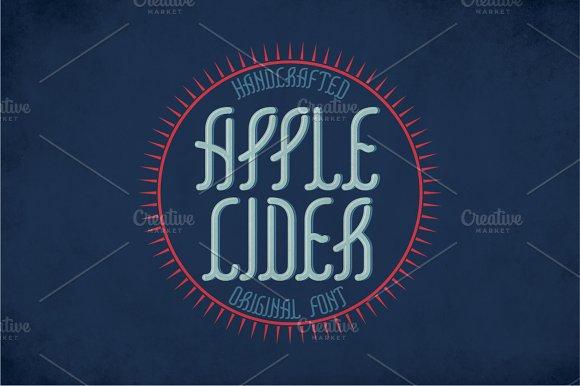 Applecider Vintage Label Typeface
