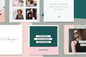 Emerald Instagram Templates Pack