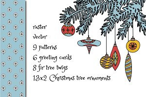 Christmas ornaments,patterns & cards