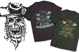 Pirate T-shirts And Poster Labels