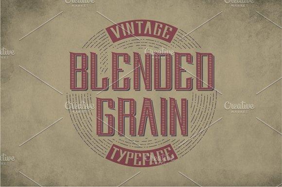 Blendedgrain Vintage Label Typeface