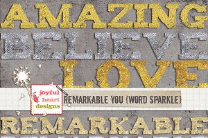 Remarkable You {word sparkle}