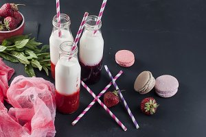Refreshing berries smoothies