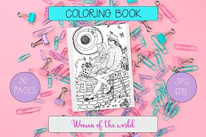 """Women of the world"" Coloring Book"