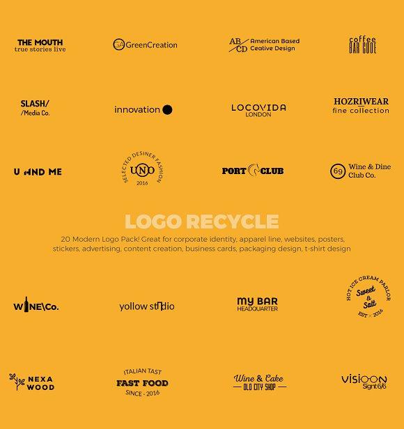 20 Modern Logo Pack