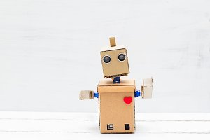 Robot with hands and heart