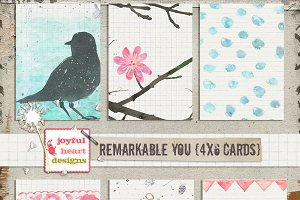Remarkable You {4x6 inch cards}