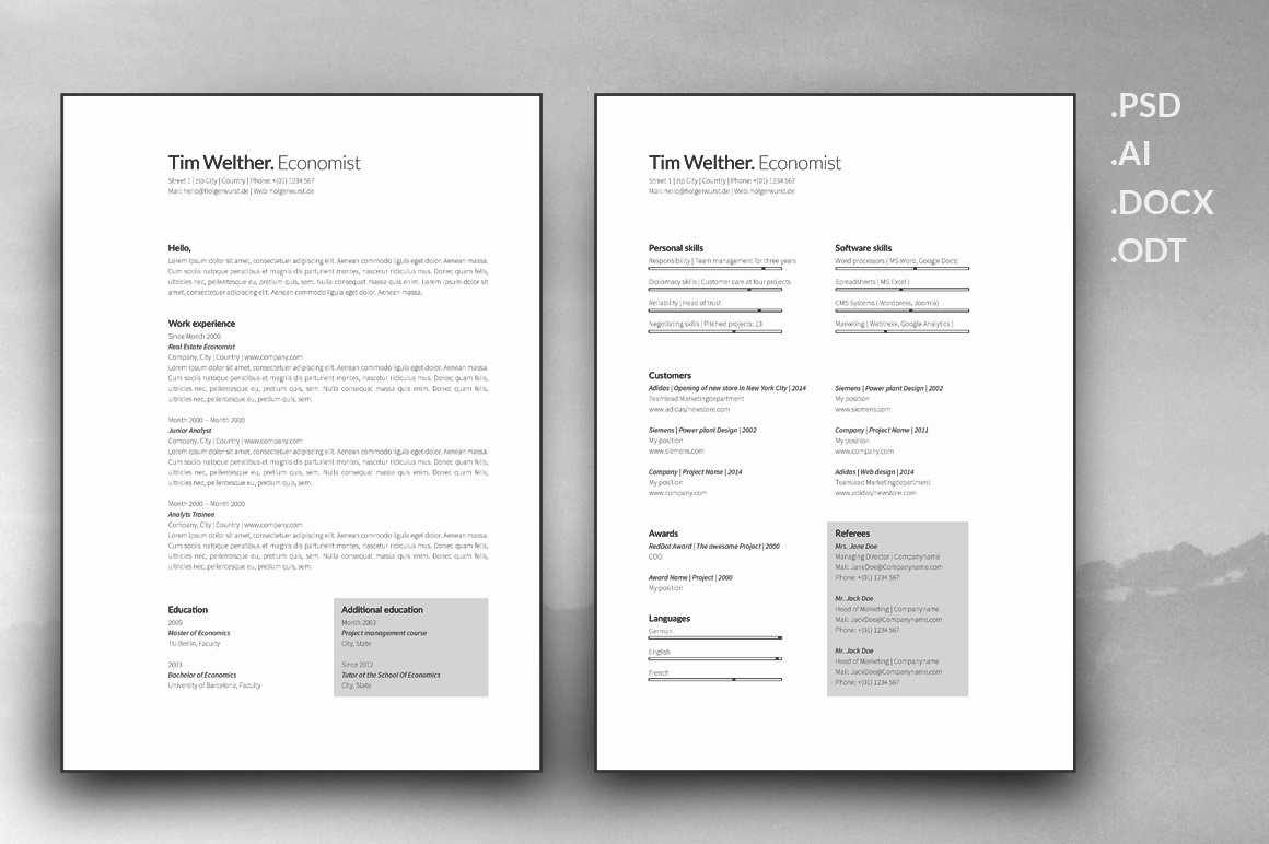 Resume and cover letter template resume templates creative market spiritdancerdesigns