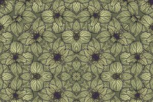 Stylized Floral Seamless Pattern Design