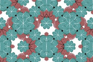 Colorful Geometric Graphic Floral Pattern