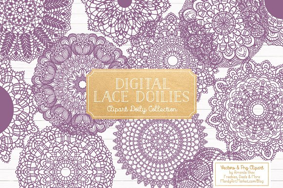 Amethyst Round Lace Doilies