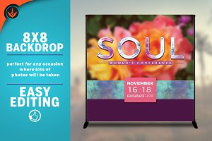 Soul Floral 8x8 Event Backdrop