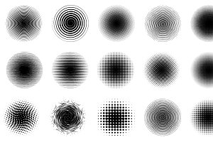 Halftone Circles Vector Pack