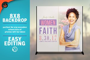 Women of Faith 8x8 Event Backdrop
