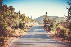 Long road through the mountains