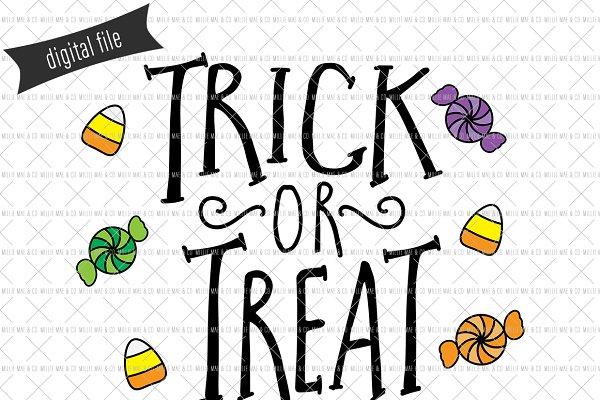 Trick Or Treat Svg Cut File Pre Designed Illustrator Graphics Creative Market