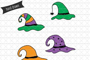 Hand Drawn Witch Hat SVGs