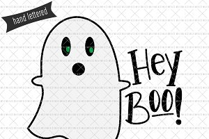 Hey Boo Halloween SVG Cut File