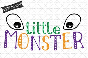Little Monster SVG Cut File