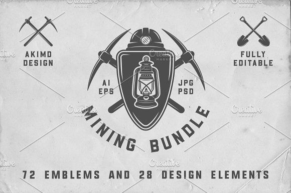 Mining Emblems Bundle