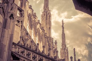 The roof of the Milan Cathedral