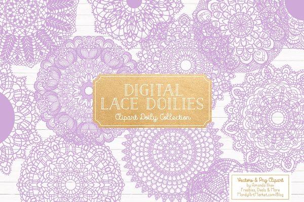 Lavender Doily Lace Clipart