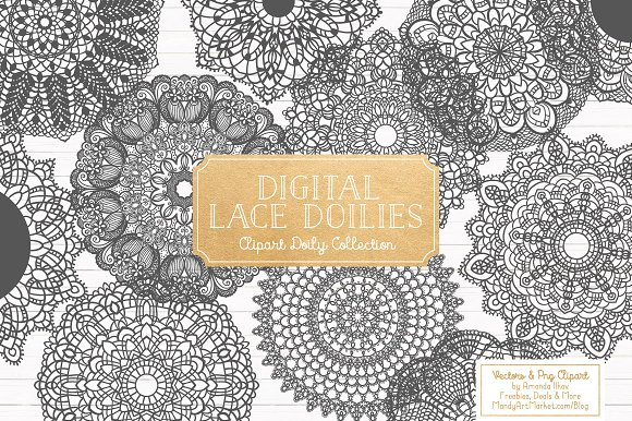 Pewter Grey Round Lace Doilies