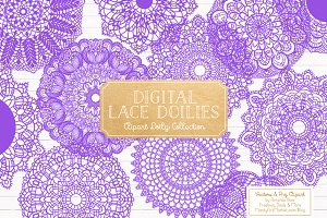 Purple Doily Clipart & Doily Vectors